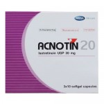 ACNOTIN 20MG. ISOTRETINOIN FOR ACNE TREATMENT 30 SOFTGELS